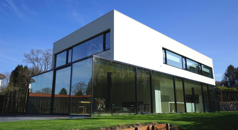 Uccle maison bien exceptionnel vendre chemin des for Maison moderne uccle